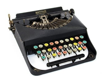 Antique Bantam Typewriter with Color Keys by Remington Display Piece Home Decor