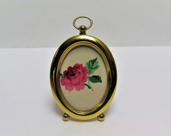 Small 2 x 3  Pocket Watch Brass picture frame with ball feet