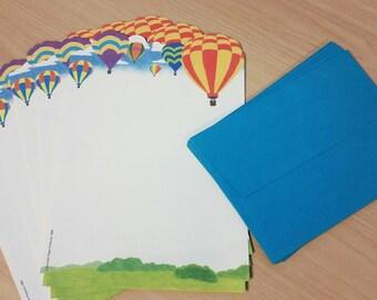 Hot Air Balloon Stationery Set