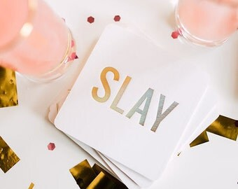 SLAY Coasters, 4 Ply, Cotton Blotting Paper, 4 inch, 10 CT.