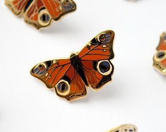 Peacock Butterfly Pin