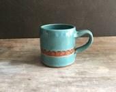 Coffee Mug 16 oz Tea Cup Handmade Ceramics and Pottery Mug, Gift for Her, Gift for Him