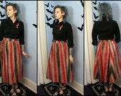 Beautiful Vintage Handmade 1950s 50s Womens Skirt MCM Abstract Metallic Full Skirt Modern Size Small Medium