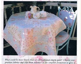 Cot Quilt/Lap Quilt - Rose Garden Charm - Original Design & Pattern by Faeries in My Garden