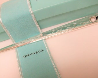 Tiffany Sterling Letter Opener w Original Box & Tarnish Free Sleeve /