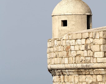 Dubrovnik Croatia Photography - Nautical Print - Mediterranean Decor - Travel Photo - Sea Wall Art - Blue and White Photograph