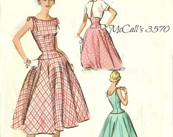 McCall's Pattern 3570 Dress & Bolero 1950's Easy to Sew Size 10 Bust 29