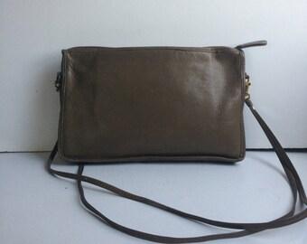 Leather Shoulderbag Handbag Light Tan Brown Satchel