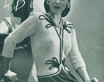 Hand Knits by BEEHIVE BOOK No. 125 War Time Home Front Sweaters 1943 WWII