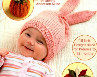 Warm Hats for WEE NOGGINS 19 Preemie and Infant Designs Leisure Arts 5538 Glenna Anderson Muse