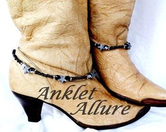 Star Boot Chains Black Boot Jewelry Biker Fashion Boot Bracelets Foot Jewelry