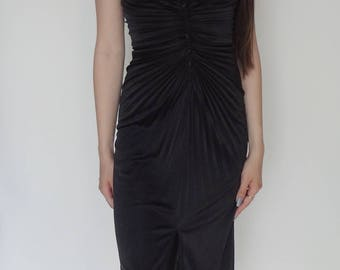 70's Black Scarface Dress