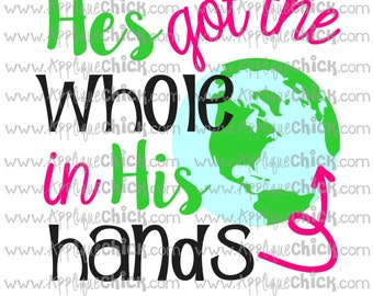 He's Got the Whole World in His Hands SVG Clipart