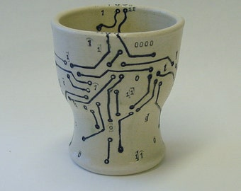 Circuit Board and Map Wine Cup