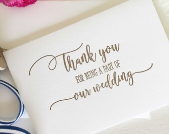Wedding Party Gifts, Wedding Party Thank You, Wedding Party Favours, Bridal Party Thank You Cards, Bridal Party Gifts, Thank You Cards Gold