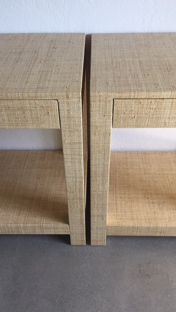 Custom Grasscloth End Tables / Nightstands - Design Your Own to Suit Your Space