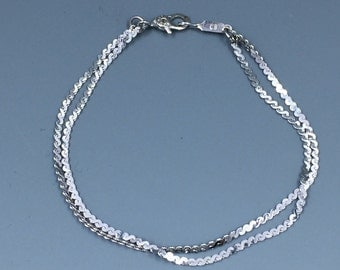 Signed Monet S Chain Double Strand Bracelet