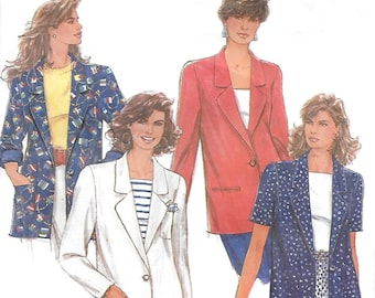 Simplicity 7722 Women's 90s Lined Jacket Sewing Pattern Size 12 to 14 Bust 34 36