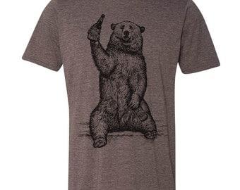 Bear shirt etsy craft beer shirt bear shirt beer drinking bear grizzly bear shirt california publicscrutiny Image collections
