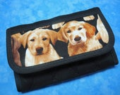 RESERVED for Marjie - Card Wallet Labrador Pups