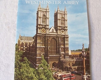 Vintage Westminster Abbey Souvenir Booklet Gothic Abbey Church London Travel Guide 1972 United Kingdom
