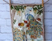Beautiful Antique Embroidery  Peacock Wall Hanging
