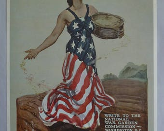 WWI Posters & Paintings. Repros by Time Life in Folder. Vintage 1964. Set of 8 Large Prints. James Montgomery Flagg. I Want You. Woman Flag.