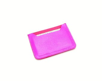 Metallic Leather, Oyster Card Holder, Credit Card Wallet, Travel Card Holder, Business Card Holder, Glitter Fabric Purse