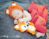 Stuffed Fox - Orange Fox - Stuff Animal - Plush Fox - Personalized Stuffed Animal - Fox Pillow - New Baby Gift  - Nursery Decor - Soft Toy