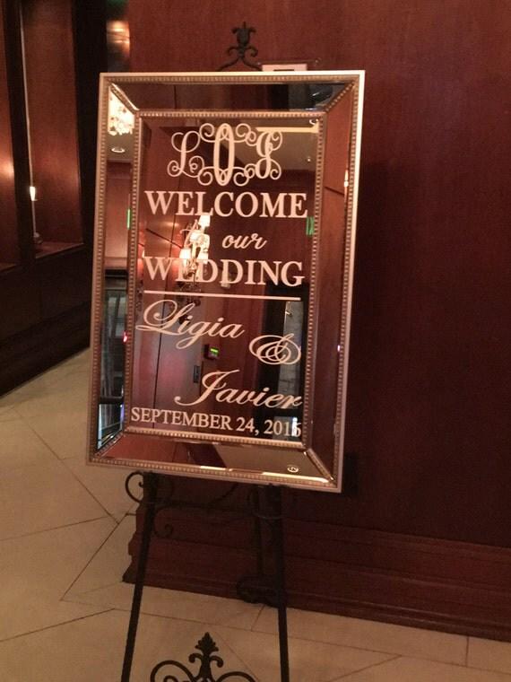 Welcome Wedding Mirror Vinyl Decal Sign