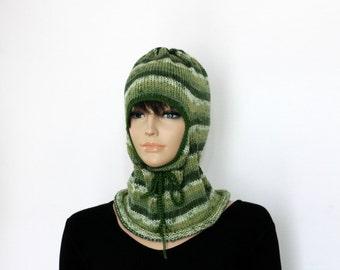 Green Ski Mask Knitted  balaclava Ski Mask Winter Balaclava Mask knitted Face Mask full face mask Knit Helmet Hood Winter Hats