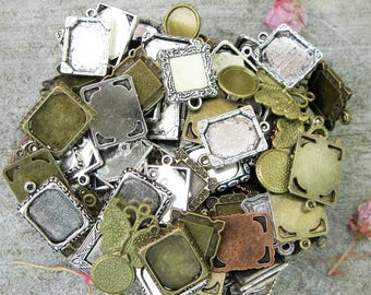 Cabochon Picture Frame Charm Grab Bag - C2545