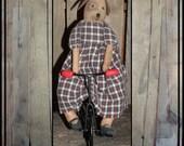 Folk art dog girl doll Prims magazine tricycle riding dog girl hafair ofg faap lucys lazy dayz