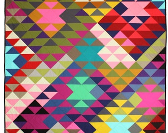 Modern Quilt, Lap Quilt, Southwest, Throw Quilt, Modern Prism, Quilts For Sale, Bed Coverlet, Made to Order