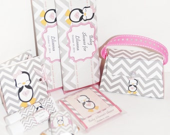Penguin Candy Bar Wrappers, Penguin waddle it be baby shower gender reveal, Penguin party favors, Penguin Baby Shower wrappers. Set of 10.