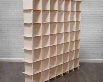 Extra Large Modern Wood Cube Storage Unit