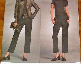 Sewing Pattern Vogue American Designer 2986, Michael Kors Jacket, Pants, Womens Misses Size 6 8 10 12 Bust 30 31 32 34 Uncut Factory Folds