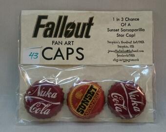 Fallout - Hand/Fanmade Nuka-Cola Caps