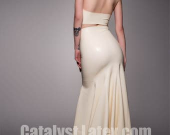 Latex Fishtail Skirt