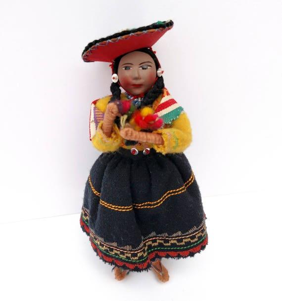Vintage Peruvian Folk Art Doll