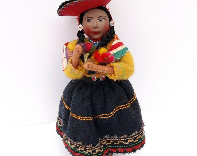Vintage Peruvian Folk Art Doll