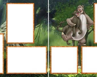 Jungle Book Disney - Digital Scrapbooking Quick Pages - INSTANT DOWNLOAD