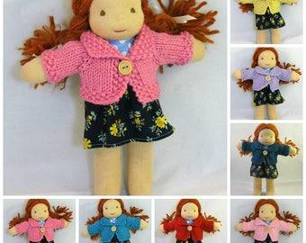 Waldorf Doll Cardigan for 8-9 Inch dolls PDF Pattern