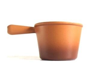Le Creuset Fondue Pot Enameled Cast Iron Cookware Tan Brown