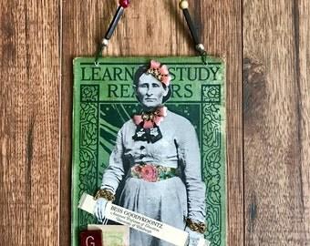 Collage Art, Assembled Art, Altered Book, Book Cover Art, Teacher, Pittsburgh