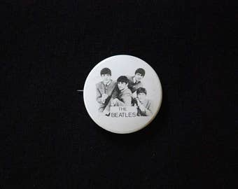 Vintage 1964 The Beatles Metal Pinback Button - Nems Ent. Ltd. - Ringo Starr - John Lennon - Paul McCartney - George Harrison