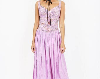 90s Candy Pink Summer Maxi