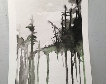 Original Watercolor Painting- Visions from the North Country