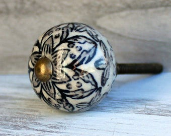 Gray Black Knobs, Ceramic Knobs, Cabinet Knobs, Gray White Knobs, Modern Cabinet Pulls, Rustic Drawer Knobs, Drawer Pulls, Rustic Home Decor