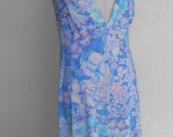 Vintage Goddess Nightgown Vanity Floral Size 36